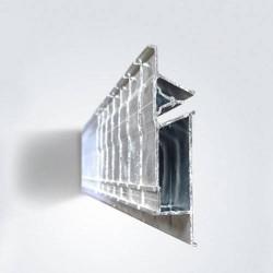 Profil přechodový AL, PP75 perforovaný - 2 m